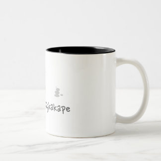 Drinking Coffee, Don't Bother - Cute Two Tone Mug