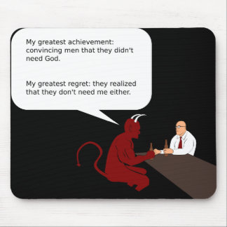 Drinking Devil Mouse Pad