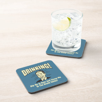 Drinking: Dip Beer Throw Drunk Chicks Drink Coaster