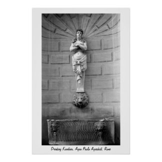 Drinking Fountain Rome Poster