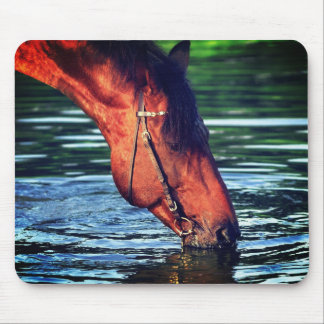 drinking horse mouse pad
