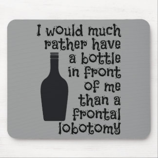 Drinking humor custom color mousepad