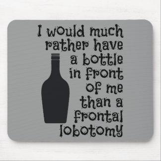 Drinking humor custom color mousepad
