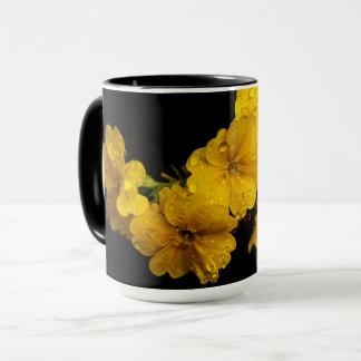 Drinking in springtime mug