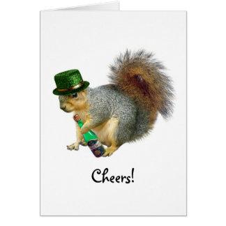 Drinking Irish Squirrel Card