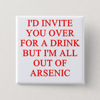 drinking joke 15 cm square badge