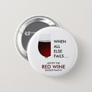 Drinking joke red wine photograph 6 cm round badge