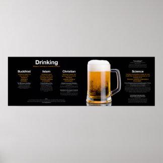 Drinking: Religion vs. Science Poster