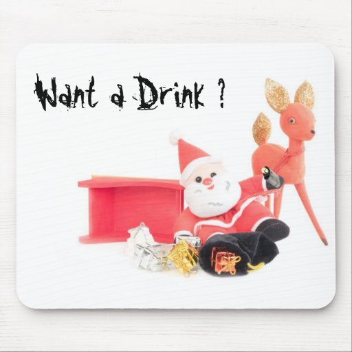 Drinking Santa Mouse Pads
