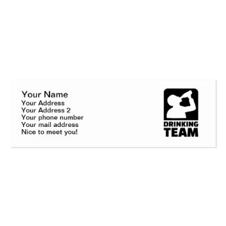 Drinking team business card template