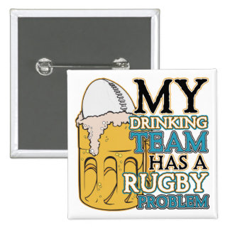 Drinking Team Rugby 15 Cm Square Badge