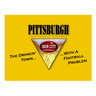 Drinking Town with a Football Problem Postcard