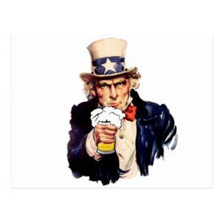 Drinking Uncle Sam Postcard