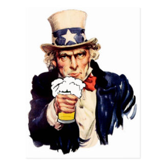 Drinking Uncle Sam Postcard