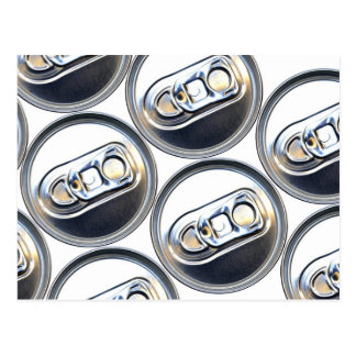 Drinks Can Tops Postcard