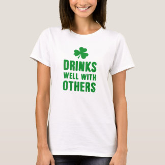 Drinks Well With Others St. Patrick's Day Tee