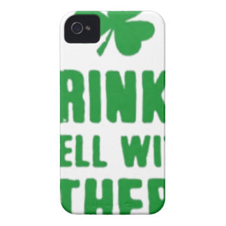 Drinks Well With Others St. Patrick's Day Tee iPhone 4 Cases