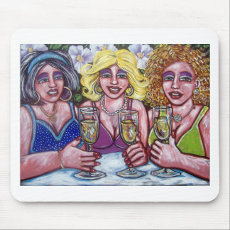 drinks with the ladies mouse pad