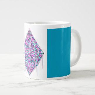 Dripping Cotton Candy Crystal Jumbo Mug