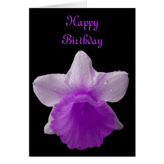 Dripping Daffodil Purple Customizable Card