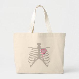 Dripping Heart in Ribcage Jumbo Tote Bag