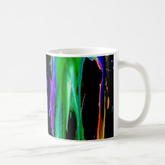 Dripping Ink, colorful rainbow galaxy legging mug
