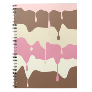 Dripping Neapolitan Ice Cream Spiral Notebook