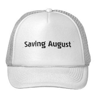 Dripping Paint Saving August Hat