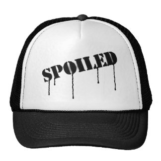 """Dripping paint """"spoiled"""" cap trucker hat"""
