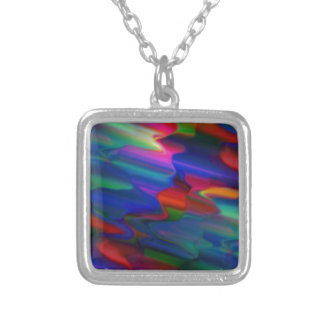 DRIPPING PAINT SQUARE PENDANT NECKLACE