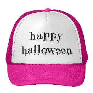 Drippy Blood Happy Halloween Mesh Hat