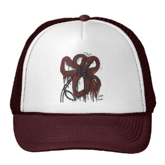 Drippy Flower Trucker Hats