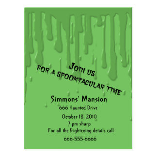 Drippy Slime Invitations