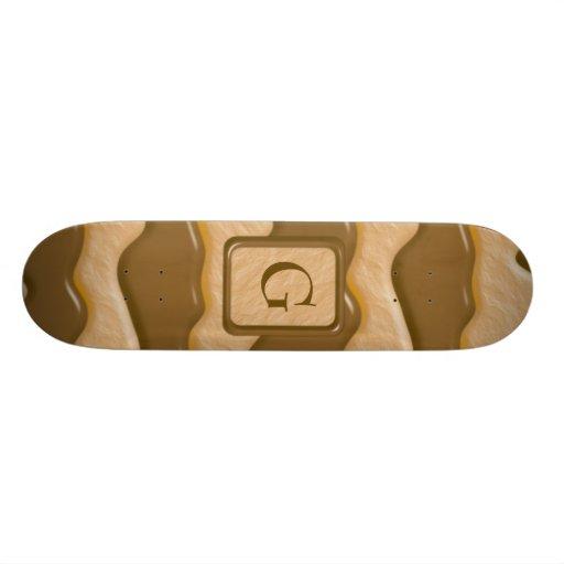 Drips - Chocolate Peanut Butter Custom Skate Board
