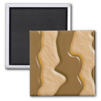Drips - Chocolate Peanut Butter Square Magnet