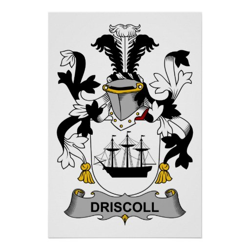 Driscoll Family Crest Poster