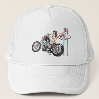 Drive Carefully Las Vegas Biker Pinup Hat