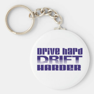drive hard drift harder key chain