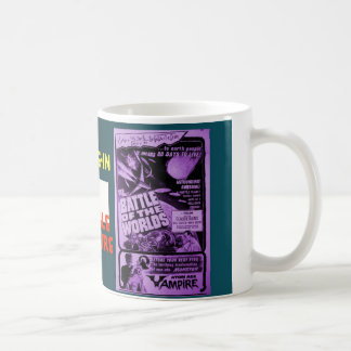 Drive-In Double Feature Basic White Mug