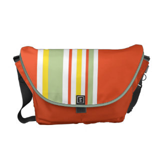 Drive in the Fast Lane Tangerine Mint and Yellow Messenger Bag
