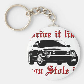 Drive it like you stole it - Domestic Basic Round Button Key Ring