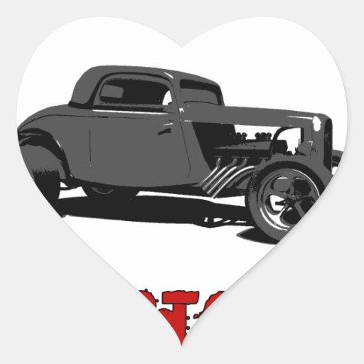 Drive it like you stole it - hot rod heart sticker