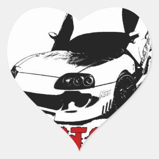 Drive it like you stole it - import race car heart sticker