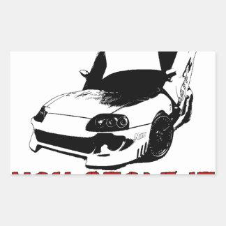 Drive it like you stole it - import race car rectangular sticker