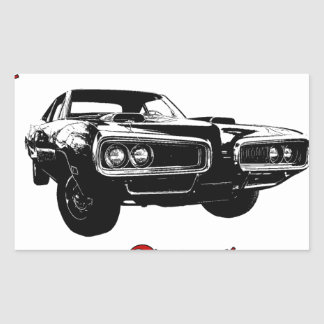 Drive it like you stole it - muscle car rectangular sticker