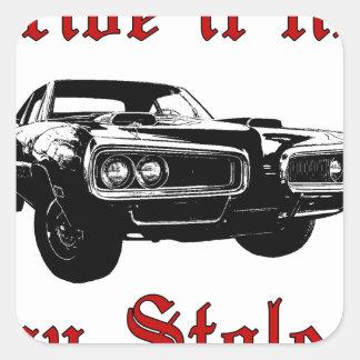 Drive it like you stole it - muscle car sticker