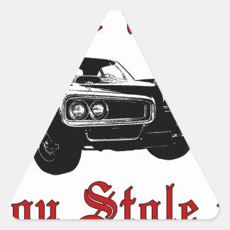 Drive it like you stole it - muscle car triangle sticker