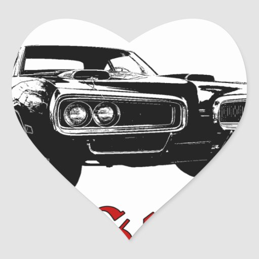 Drive it like you stole it - muscle car heart stickers