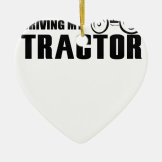Drive my Tractor Ceramic Heart Decoration