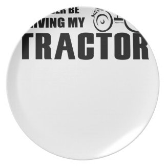Drive my Tractor Party Plates